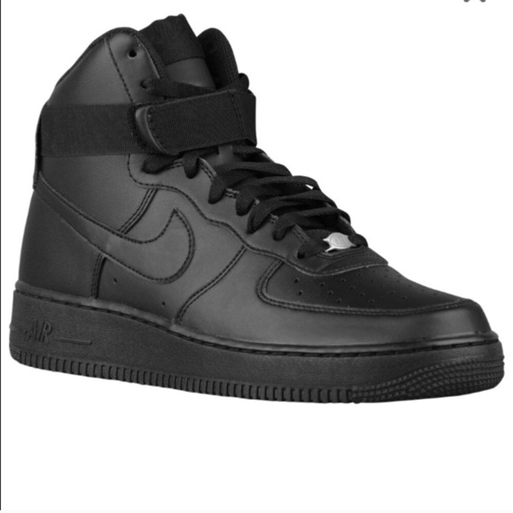 Black high Nike Air Force one shoes